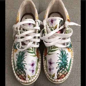 Free people Jackson pineapple lace up sneakers .